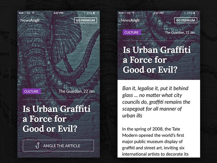 Article Mobile Layout by Kyril Ku