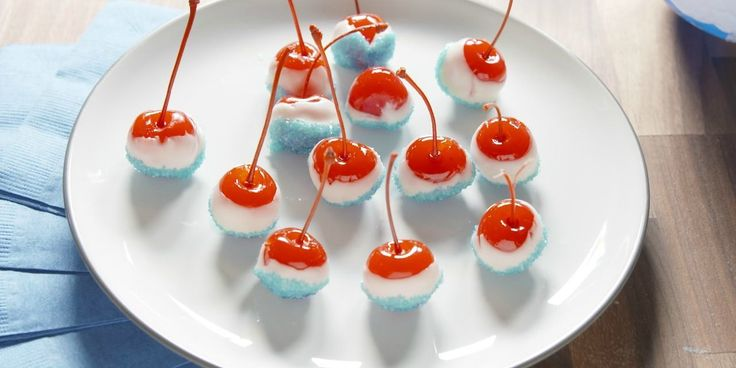 Get the party started with these patriotic treats.​ Boozy cherry bombs...