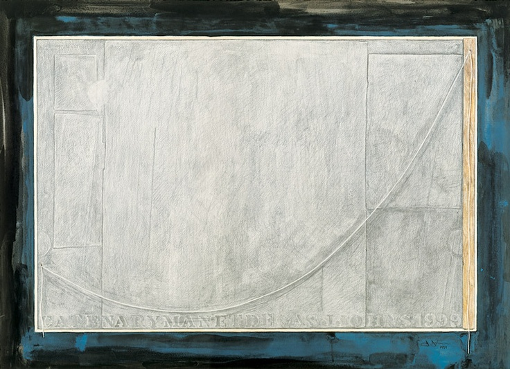 Jasper Johns    Catenary (Manet-Degas), 1999    Graphite, watercolor, synthetic polymer, and ink on paper, 25 5/16 × 33 1/2 in. (64.3 × 85.1 cm).