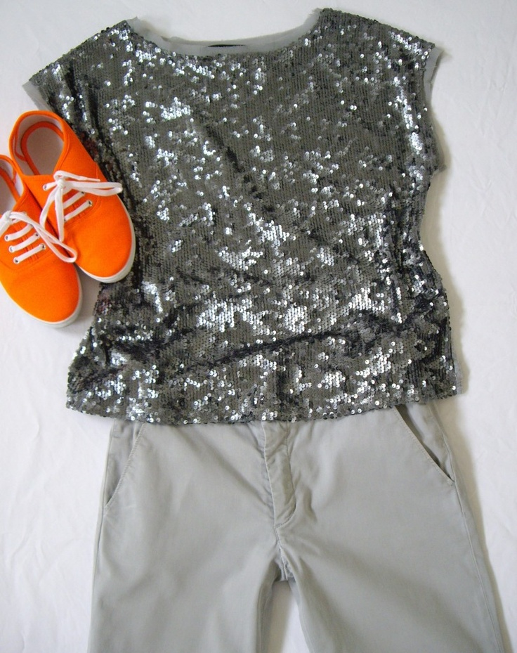 Orange sneakers   http://meaghansmith.com.au/2013/02/03/how-to-wear-bright-orange-sneakers/#