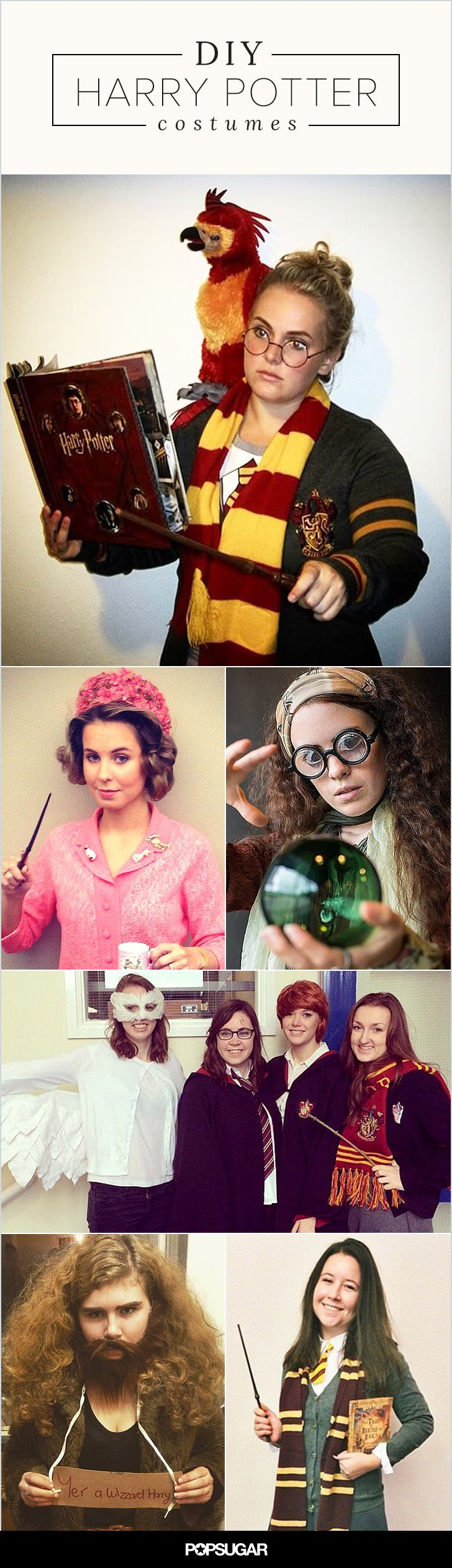 We've rounded up the most amazing Harry Potter costumes you can DIY — from ones that are more obvious, to the ones that only true Potterheads will appreciate.
