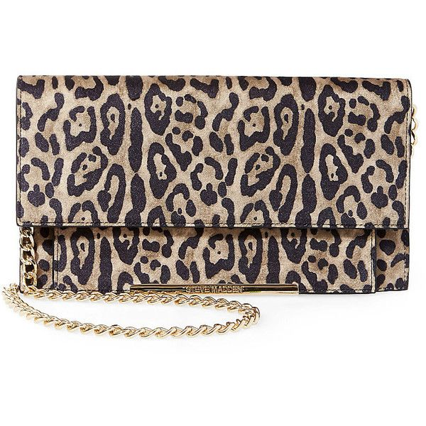 Steve Madden Bmusthav (599.945 IDR) ❤ liked on Polyvore featuring bags, handbags, leopard, sac, chain strap handbag, chain strap purse, steve madden handbags, faux purses and steve madden purses