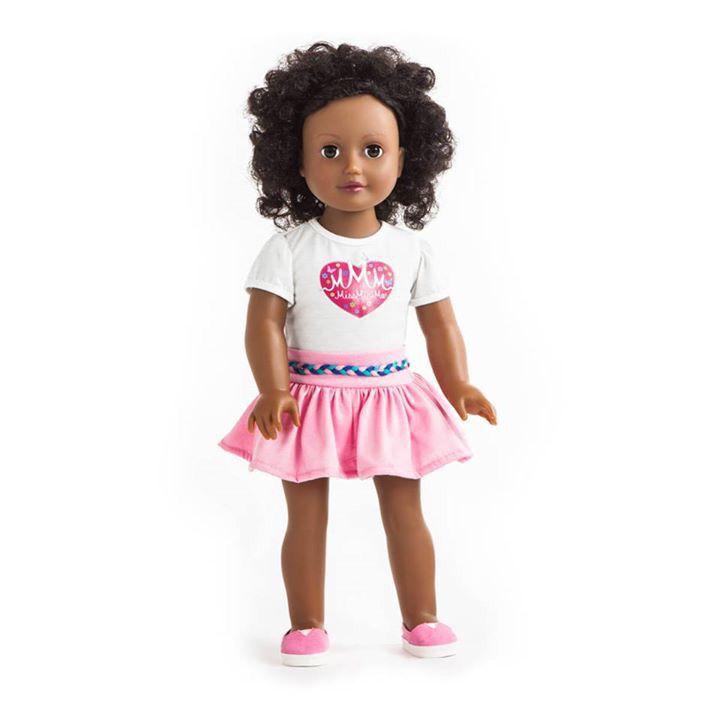 Miss Sara  She has dark brown hair, dark skin and brown eyes. One of our twelve dolls. #missminime#missminimedoll#missminimedolls#misssara#brownhaired#browneyed#beautiful#qualitydoll#girl#musthave#doll