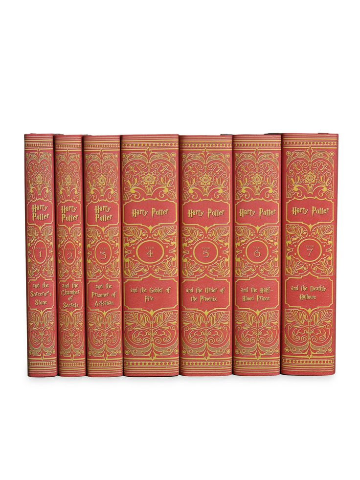 ATTENTION all Harry Potter Fans!!! I just found the coolest thing ever. A complete hardcover set of Harry Potter books in custom book jackets. All seven books in the series have custom book jackets made to look like antique gold and red leather bindings inspired by the Gryffindor colors. NEED.