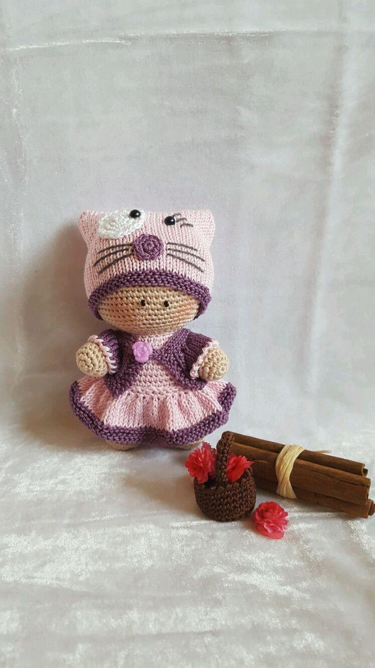 Купить Кукла - пупс вязаная - Вязание крючком, вязаный пупс, игрушка в подарок