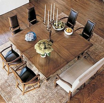 Century Furniture   Square Table For Eight Classics Square To Square Dining  Table