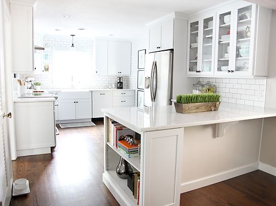 Like This Kitchen Layout Floor To Ceiling White Subway Tile With Grey Grout Ikea Cabinets 7th
