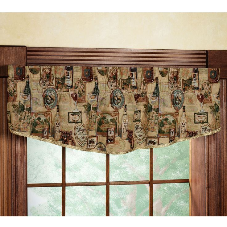 Wine And Grapes Tapestry Valance Home Napa Gathered