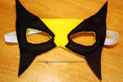 Wolverine felt mask with free template
