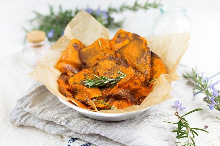 Chips di zucca al rosmarino ricetta