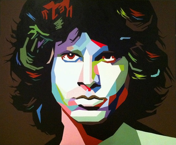 Crystal Storm Jim Morrison Pop Art Original by RadiantCanvas, $30.00
