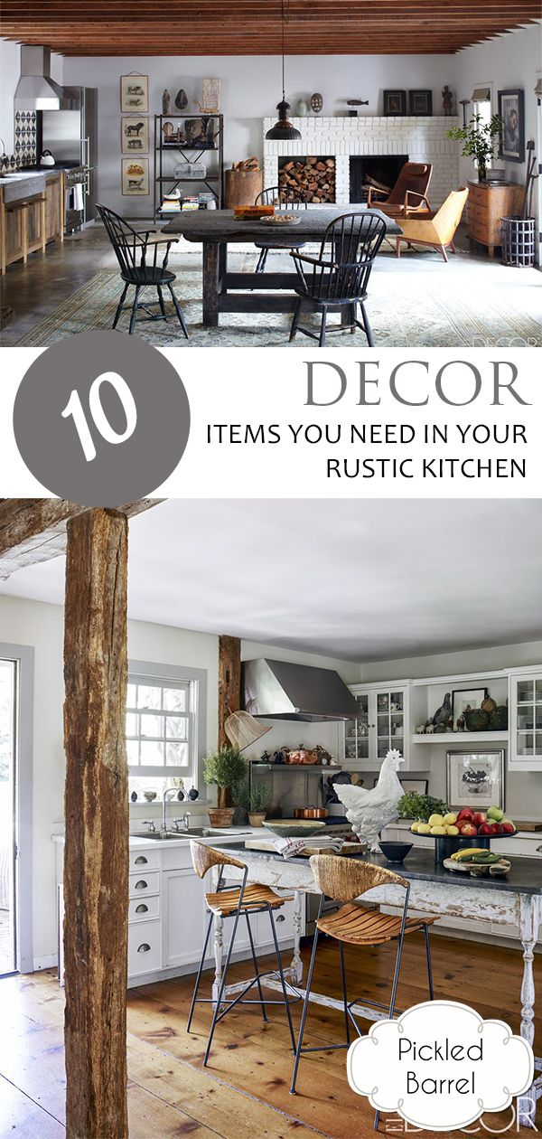 10 decor items you need in your rustic kitchen   designer motivation