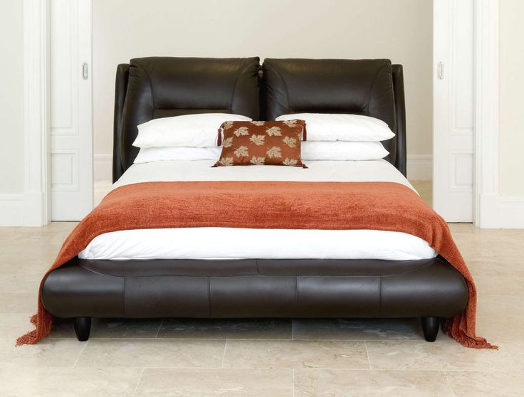 Montana bed. Available in different size options and leather.