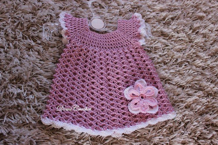 Háčkované detské šaty - 1.časť
