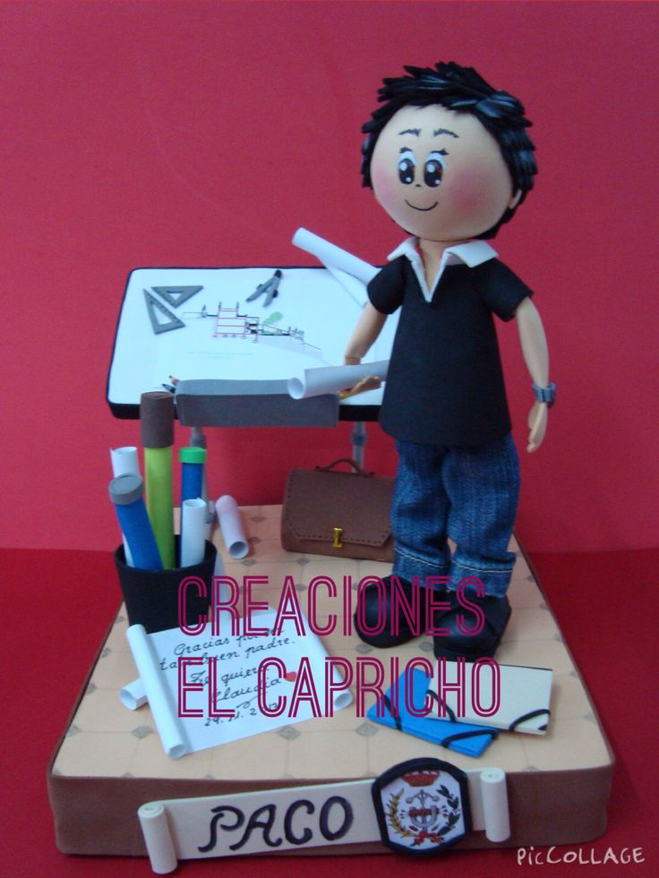Creaciones el Capricho: Fofucho Ingeniero.