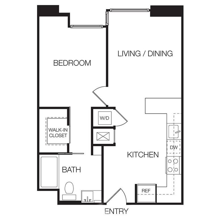 Find 1 Bedroom Apartment: Plan Home Plans One Bedroom Apartment Floor Google Search