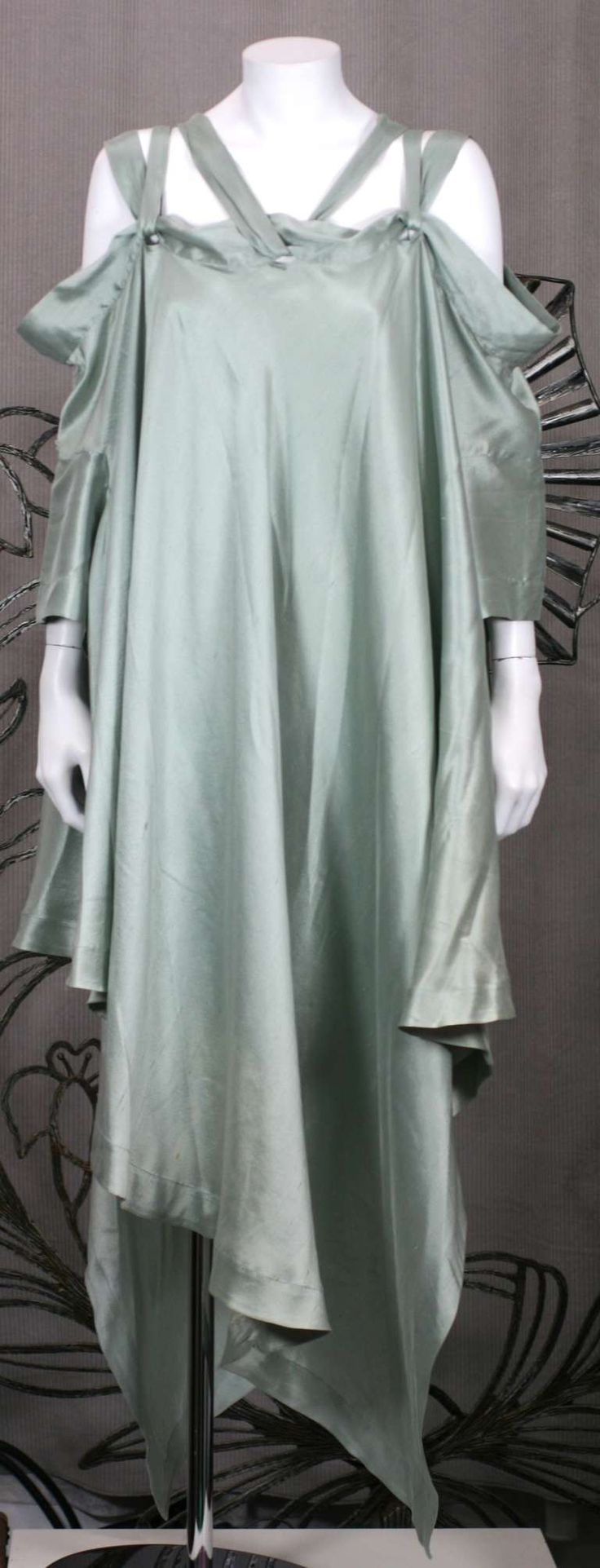 Romeo Gigli Celadon Silk Scarf Dress image 2