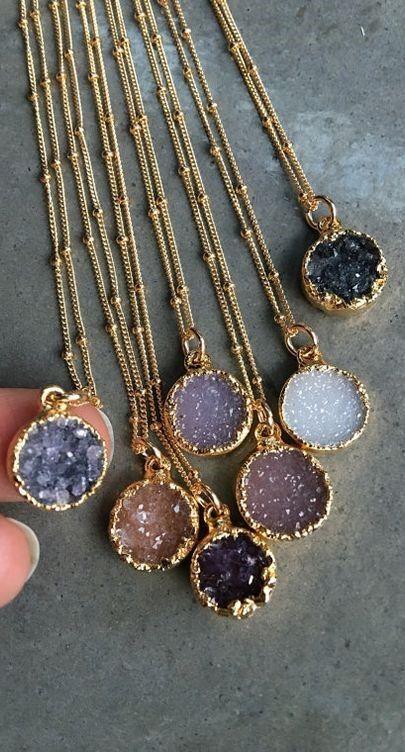 3fdff13decf Natural Druzy Necklaces