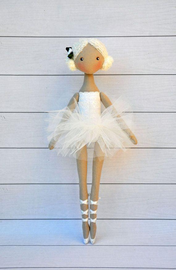 ballerina DollTextile doll decorative dollcollectible by NilaDolss