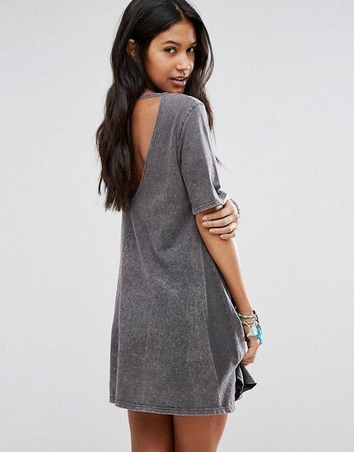 Billabong | Billabong Essential Swing Beach Dress In Washed Black