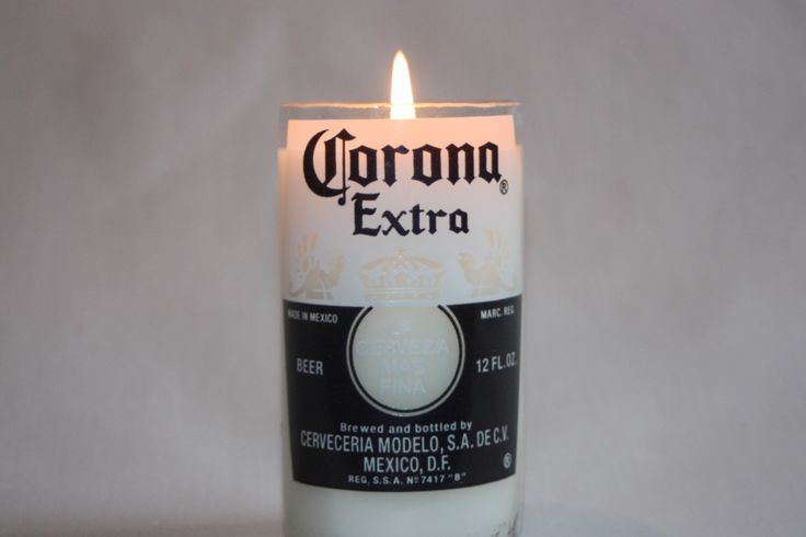 Beer Bottle Candle from Recycled Corona or Corona Light Beer Bottle, High Scented,  Custom Made Candle by CountryRichCreations on Etsy https://www.etsy.com/listing/129539648/beer-bottle-candle-from-recycled-corona