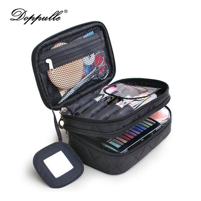 DOPPULLE Brand Luxury Cosmetic Bag Professional Makeup Bag Travel Organizer Case Beauty Necessary Make up Storage Beautician Box
