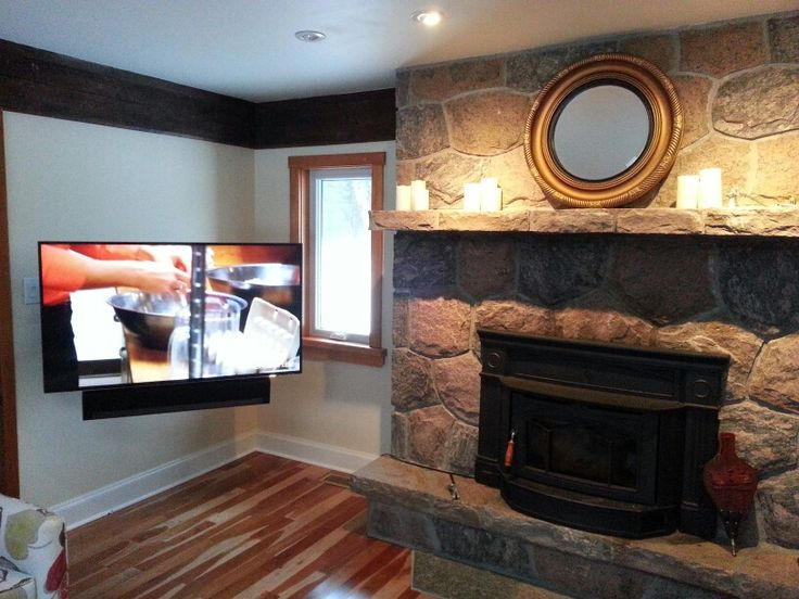 Floating TV/soundbar with hidden wires & equipment. All controlled by easy to use programmable remote control. www.AveryAudio.ca