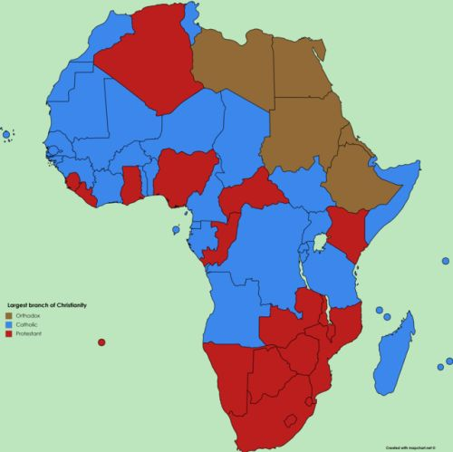 Largest branch of Christianity in African countries.
