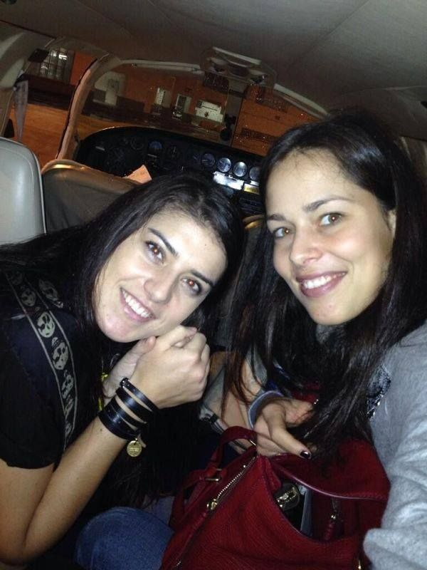 """""""Private flight with my best friend Ana to paradise!"""" - Sorana Cirstea (Two of the best!)"""