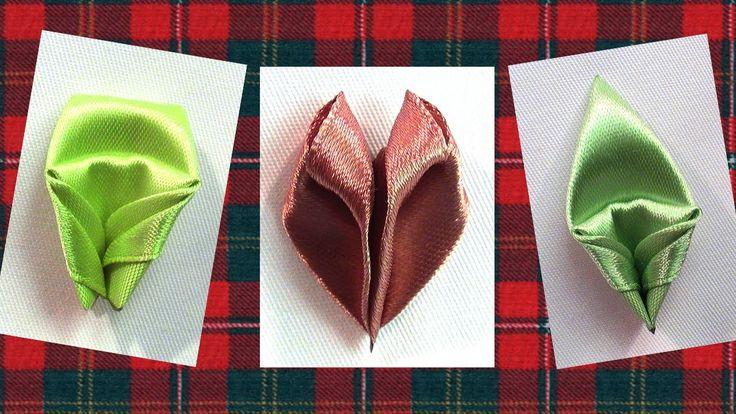 How to make flowers Petals, Kanzashi Petals Tutorial, Kanzashi Tatiana V...