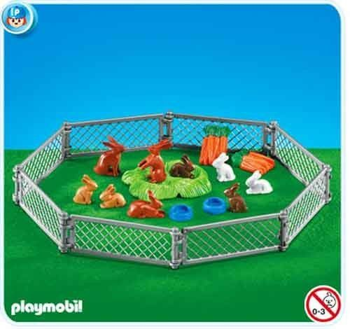 Playmobil Rabbit Pen by Playmobil. $8.25. Playmobil Rabbit Pen. Please Note: This item is part of the Direct Service range. This particular range of products are intended as accessories and / or additions to existing Playmobil sets. For this reason these items come in clear plastic bags or brown cardboard boxes instead of a colorful blue retail box.