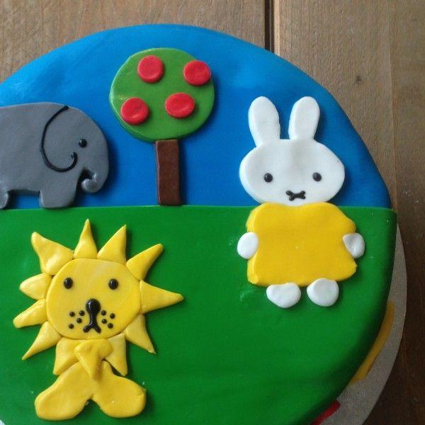 Nijntje dierentuin taart 2D