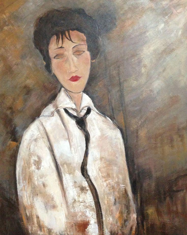 """La femme a la cravatte de """"Modigliani""""  20x24   Collection privé!"""