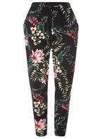 Womens DP Curve Plus Size Tropical Jersey Joggers- Multi Colour