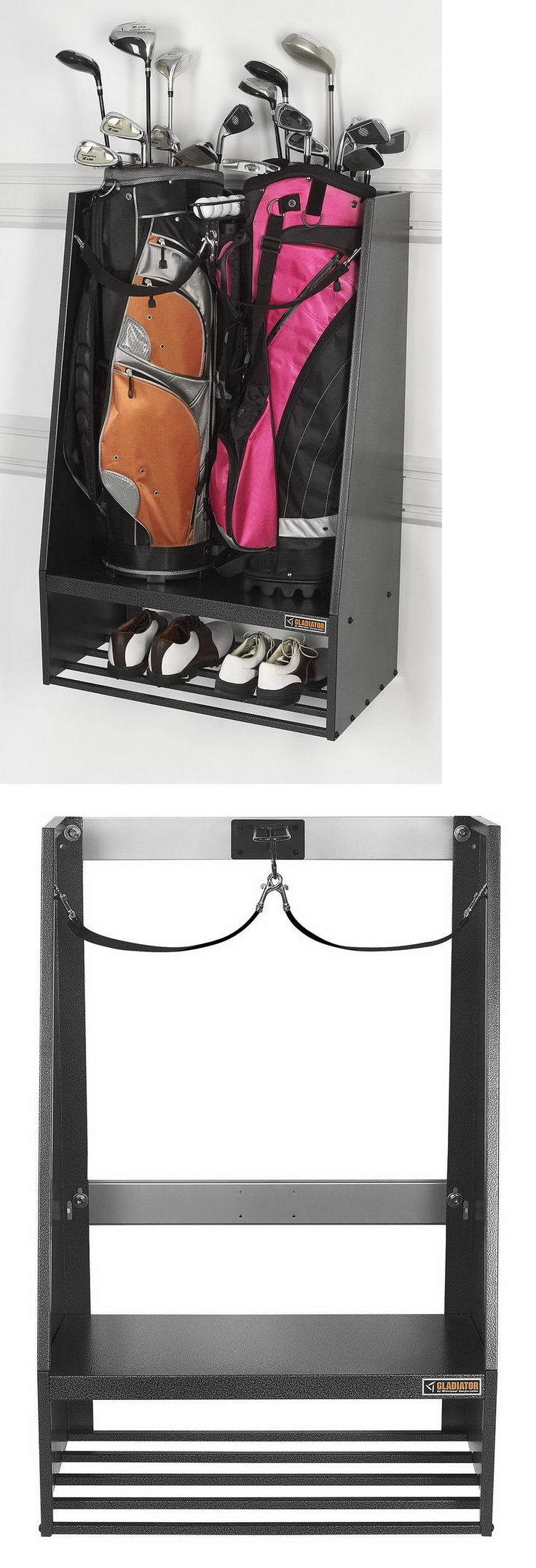 Other Golf Accessories 1514: New 2 Golf Bag Storage Rack Stand And Equipment Holder Organizer BUY IT NOW ONLY: $116.69