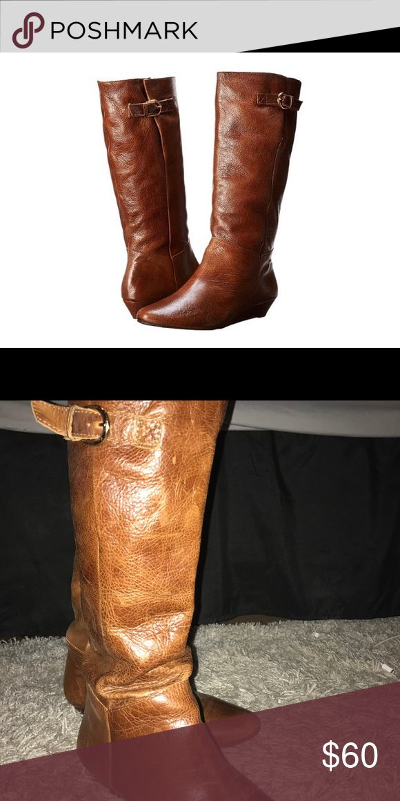 Steve Madden Cognac Intyce Boots Women's Size 7 The Steve Madden Classic Intyce Boots. These boots are in great shape, go with anything and are perfect for fall coming up soon! Steve Madden Shoes Heeled Boots