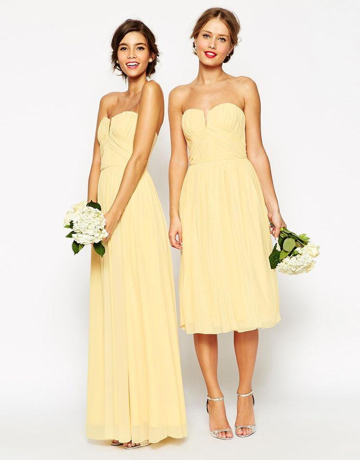 Image 4 ofASOS WEDDING Ruched Bodice Bandeau Midi Dress