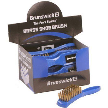 Brunswick Brass Shoe Brush by Brunswick. Save 60 Off!. $5.99. Compact design fits easily inside your bag or accessory bag. Rugged stiff brass bristles are perfect for bringing the sliding soles of bowling shoes back to proper condition to ensure a smooth ride to the foul line. 1 shoe brush (box is shown)