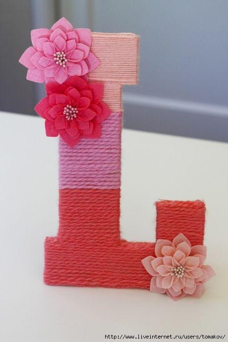 Буквы для декора детской комнаты. Обсуждение на LiveInternet - Российский Сервис Онлайн-Дневников