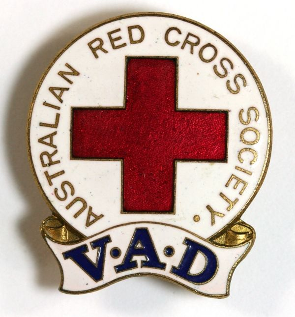 WWII Red Cross Voluntary Aid Detachment (VAD) badge