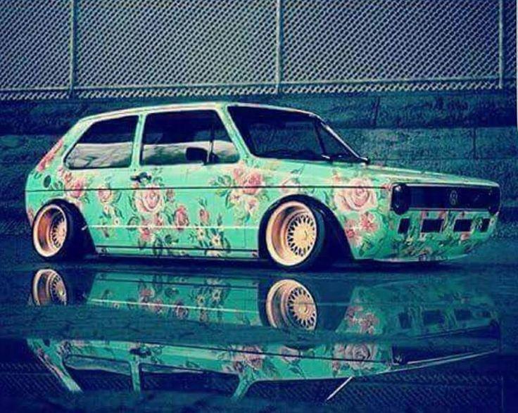 VW MK1 FlowerPower #BBS #Golf