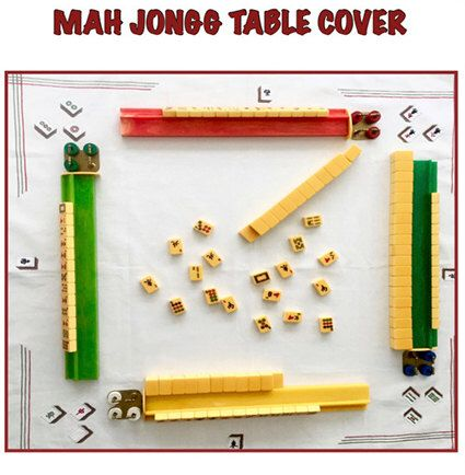 Vintage Style Mahjong Table Cover by Gehazi on Etsy https://www.etsy.com/listing/478961188/vintage-style-mahjong-table-cover