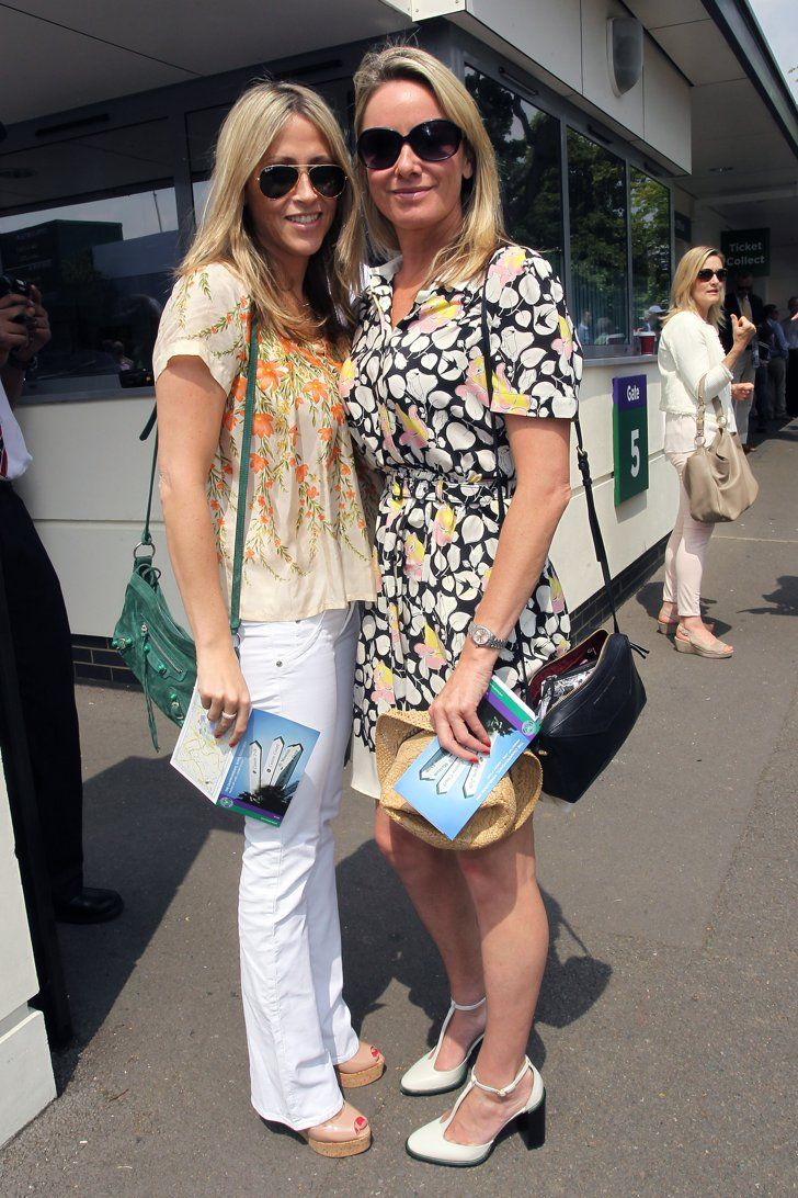Pin for Later: See All the Courtside Celebrity Style at Wimbledon Nicole Appleton and Tamzin Outhwaite