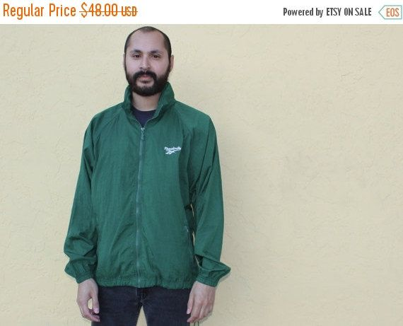 ON SALE Reebok Green Zip Up Jacket Medium 90s Reebok Zip Up Nylon Jacket Reebok Jacket Medium 90s Minimal Zip Up Bright Green Jacker M Mi by DiveVintage from Passport Vintage. Find it now at http://ift.tt/2kF04DV!