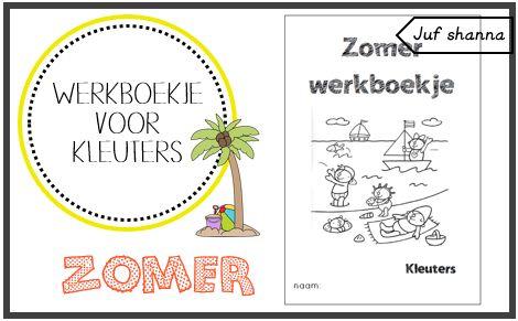 Thema zomer: werkboekje voor kleuters