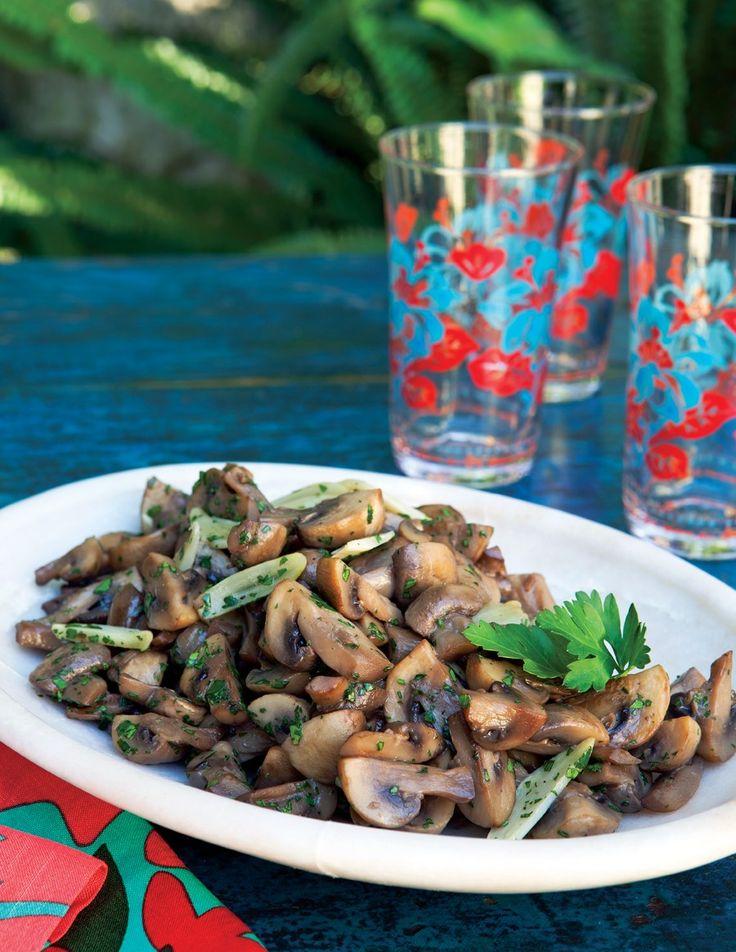 Garlicky Mushrooms Recipe   Vegetarian Times....mmmmmm!Vegan Recipe