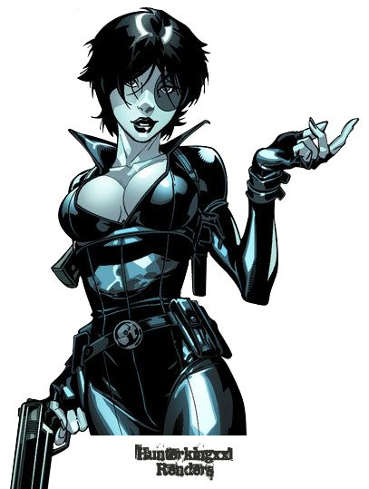 Marvel Comics Domino Render by ~Hunterkingxxl