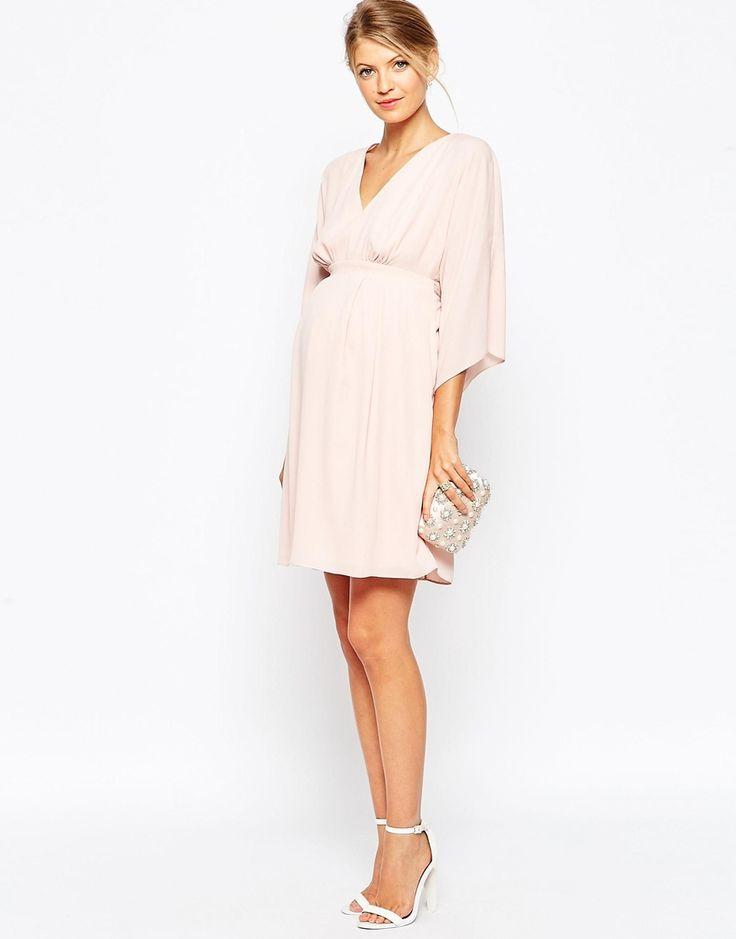 $81 Image 4 ofASOS Maternity Mini Dress With Obi Wrap Belt
