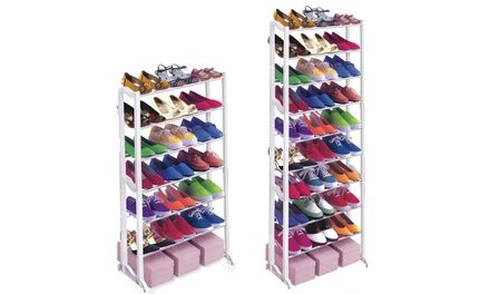 Designed to keep shoes tidy and organised, these shoe racks are suitable for hallways or bedrooms