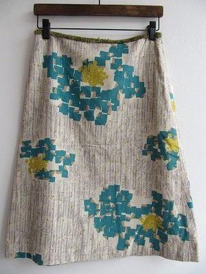 Lovely textiles! Mina Perhonen Skirt - Tip flower pattern
